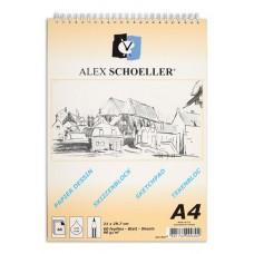 Alex Schoeller ALX-820 A4 Eskiz Spiralli Blok Defter 60 Yaprak 90 Gr./m²