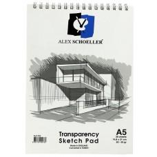 Alex Schoeller ALX-0763 A5 Eskiz Spiralli Blok Defter 30 Yaprak 50-55 Gr.
