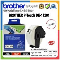 BROTHER DK-11201 P-Touch DK Serisi MUADİL Standart Adres Etiketi (29mmx90mm) (400 Adet/Rulo)