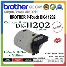 BROTHER DK-11202 P-Touch DK Serisi MUADİL Gönderi Etiketi (62mmx100mm) (300 Adet/Rulo)