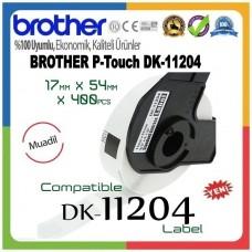 BROTHER DK-11204 P-Touch DK Serisi MUADİL Çok Amaçlı Etiketi (17mmx54mm) (400 Adet/Rulo)