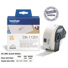 BROTHER DK-11201 P-Touch DK Serisi Standart Adres Etiketi (29mmx90mm) (400 Adet/Rulo)
