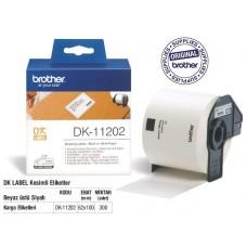 BROTHER DK-11202 P-Touch DK Serisi Gönderi Etiketi (62mmx100mm) (300 Adet/Rulo)