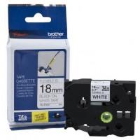Brother P-Touch TZE-FX241 TZE-TAPE 18 MM Beyaz üzerine Siyah Esnek Laminasyonlu Etiket