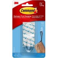Command™ 17093 Şeffaf Askı, Şeffaf Büyük Boy Cırt Bant ile
