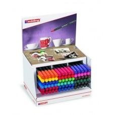 Edding 4200-(52.591) Porselen Kalemi ~1-4 mm Fırça Uçlu Karışık Renkli 90'Lı Display Hediyeli