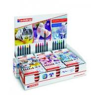 Edding 4200 Porselen Kalemi ~1-4 mm Fırça Uçlu Karışık Renkli 18'Li Set Display 50.292