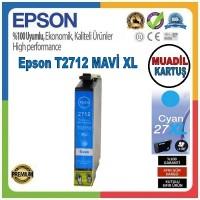 Epson T2712 Mavi MUADİL Mürekkep Kartuş 17.7ML 27XL C13T27124012