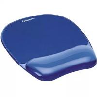Fellowes Crystals™ Jel Bilek Desteği Mouse Pad - Mavi 7574-01