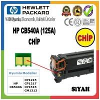 HP 125A Siyah CHİP (Toner Kartuşu için) CB540A