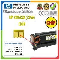 HP 125A Sarı CHİP (Toner Kartuşu için) CB542A