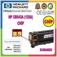 HP 125A Kırmızı CHİP (Toner Kartuşu için) CB543A