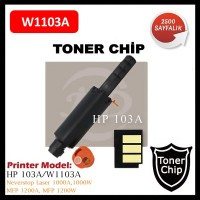 HP 103A Siyah CHİP (Neverstop Laser Toner için) 2.500 Syf. (W1103A)