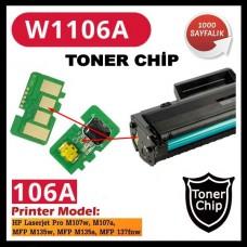 HP 106A Siyah CHİP (Toner Kartuşu için)  W1106A 1000 Sayfa