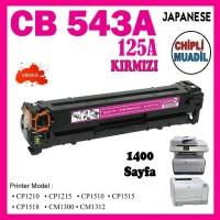 HP 125A Kırmızı Muadil Japanese LaserJet Toner Kartuşu CB543A
