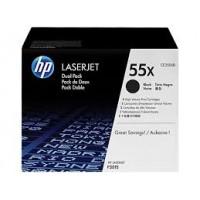 HP 55X Siyah 2'Li Paket Yüksek Kapasiteli Orijinal LaserJet Toner Kartuşları CE255XD