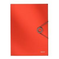 Leitz 4563 Solid İnce Lastikli Dosya Kırmızı