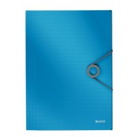 Leitz 4563 Solid İnce Lastikli Dosya Mavi