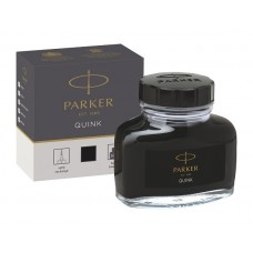 Parker 1950375 Quink Şişe Mürekkep, Siyah