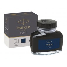 Parker 1950378 Quink Şişe Mürekkep, Mavi-Siyah