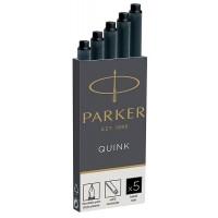 Parker 1950382 Quink Dolmakalem Kartuş, 5'Li kutu, Siyah
