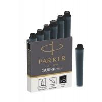Parker 1950407 Dolmakalem Quink Kısa Kartuş, 6'Lı Kutu, Siyah