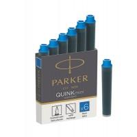 Parker 1950409 Dolmakalem Quink Kısa Kartuş, 6'Lı Kutu, Yıkanabilir Mavi