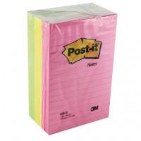 Post-it® 660-N Super Sticky Not, Neon Gökkuşağı Renkleri, Çizgili 101x152mm, 100 yaprak 3 renk