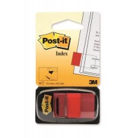 Post-it® 680-1 İndex - İşaret Bandı, Kırmızı, 50 Yaprak 26x44mm