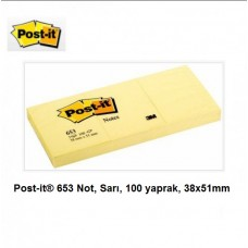 Post-it® 653 Not, Sarı, 100 yaprak, 38x51mm-YENİ KOD