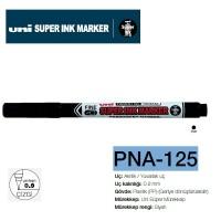 Uni SUPERINK Marker Yuvarlak uç ~0.9 Permanent Markör PNA-125 Siyah