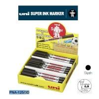 Uni SUPERINK Marker Yuvarlak uç ~0.9 Permanent Markör PNA-125 Siyah 36'Lı Set