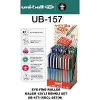 Uniball UB-157 EYE Fine Needle 0.7 Roller Kalem 120'Li Set Karışık Renk