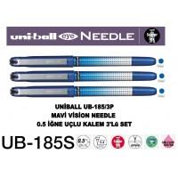 Uniball UB-185S/3P Mavi Eye Needle 0.5 İğne Uçlu Kalem 3'Lü Set
