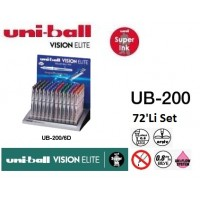 Uniball UB-200/76P Set Vision Elite 0.8 Roller Kalem 76'Li Set